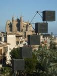 Escultura Calatraba y Catedral Palma