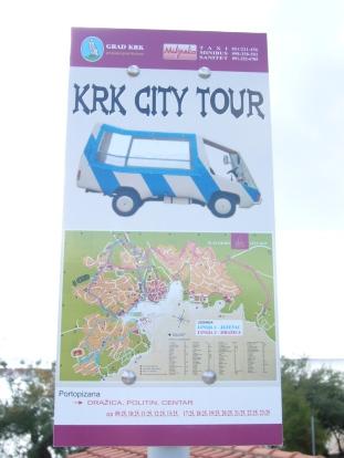 Bus turístico isla de Krk