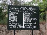 Horario Jardines de Alfabia