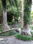 Vistas de una de las fuentes de los Jardines de Alfabia