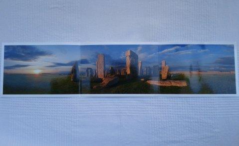 Lámina-postal de Stonehenge