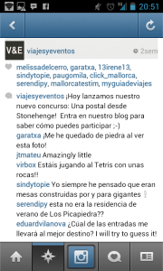 El comentario ganador publicado en Instagram