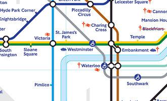 Westminster en el London tube