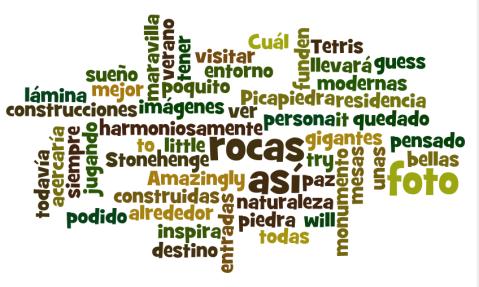 Mosaico de palabras clave