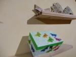 Caja decorada con servilletas y la técnica del craquelado