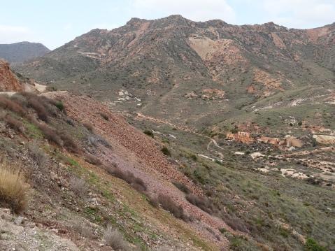 Restos de la mina al aire libre