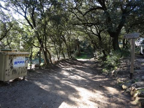 Lugar donde empieza la excursión, km 8,5 de la carretera Bunyola-Orient