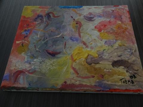 Sonrisas, cuadro al óleo sobre lienzo