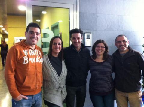 Miguel Gavilán en el centro de la foto que nos hizo Marga Noguera