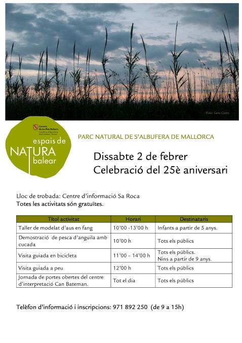 Cartell activ Albufera celebració 25 aniversari febrer1