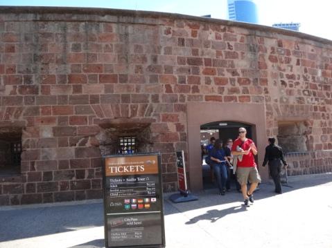 Castillo donde se compran las entradas