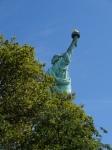 Estatua de la Libertad desde atrás