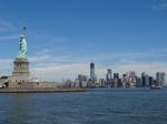 Slyline de Nueva York y la Estatua de la Libertad