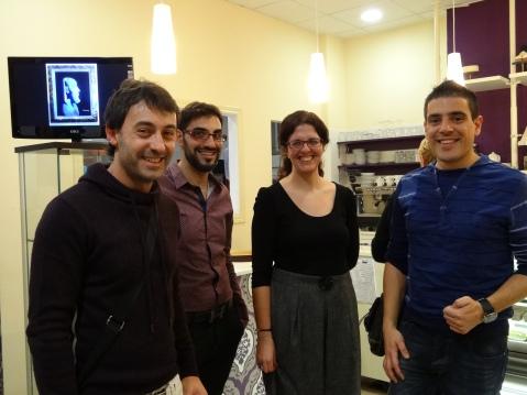 Txema con Fran del blog Teaching in english with Fran y Miguel y Asun del blog Me gusta lo que haces