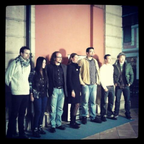 Directores de PalmaenCorto en el photocall