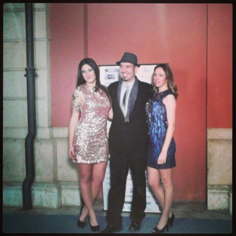 Juanjo Buendía con Marga Bonnin y Silvia Llul