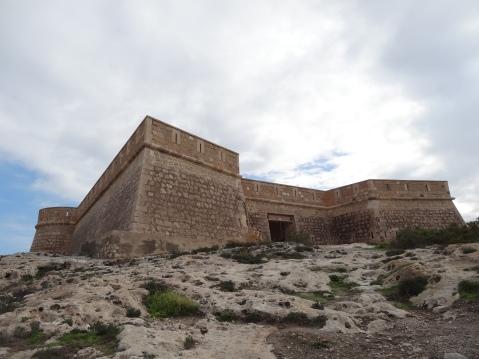 Vista frontal del castillo de San Felipe