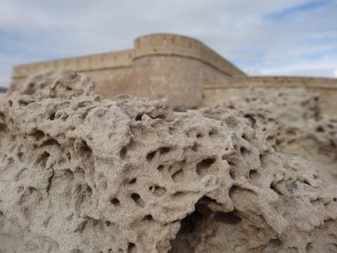 Detalle de la duna fosilizada