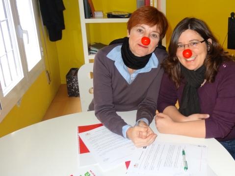 Con Ana Ferreira durante la firma del convenio de colaboración