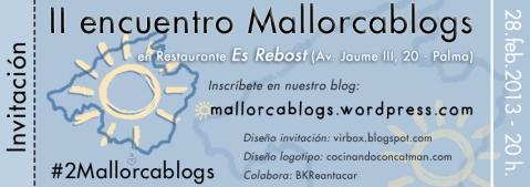 Invitación #2mallorcablogs