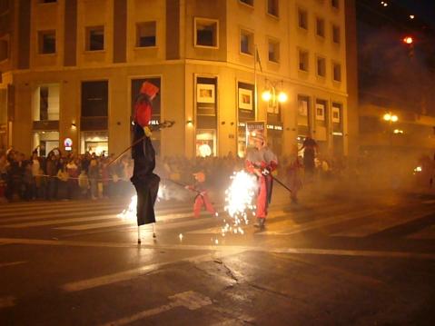 Cabalgata del fuego en Valencia