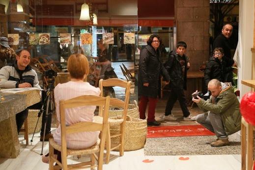 Dani y Pedro de Reload Producciones entrevistando a Patricia del blog Desde el probador Foto Cati Cladera