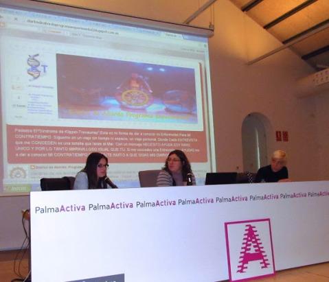 Melissa, Vir y yo durante las ponencias en Palma Activa Foto de Cati Cladera