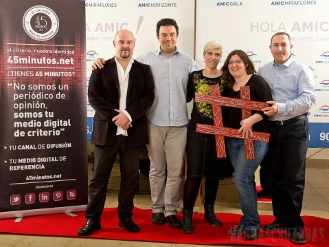 Con Guillermo, Andreu, Vir y Miquel en el photocall Foto de Toni Martos.