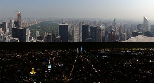 Parnorámica desde el Top of de rock de día y desde el Empire State de noche