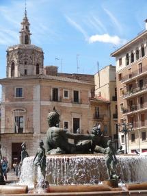 fuente plaza de la reina valencia