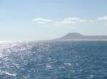 vistas de Fuerteventura desde el barco